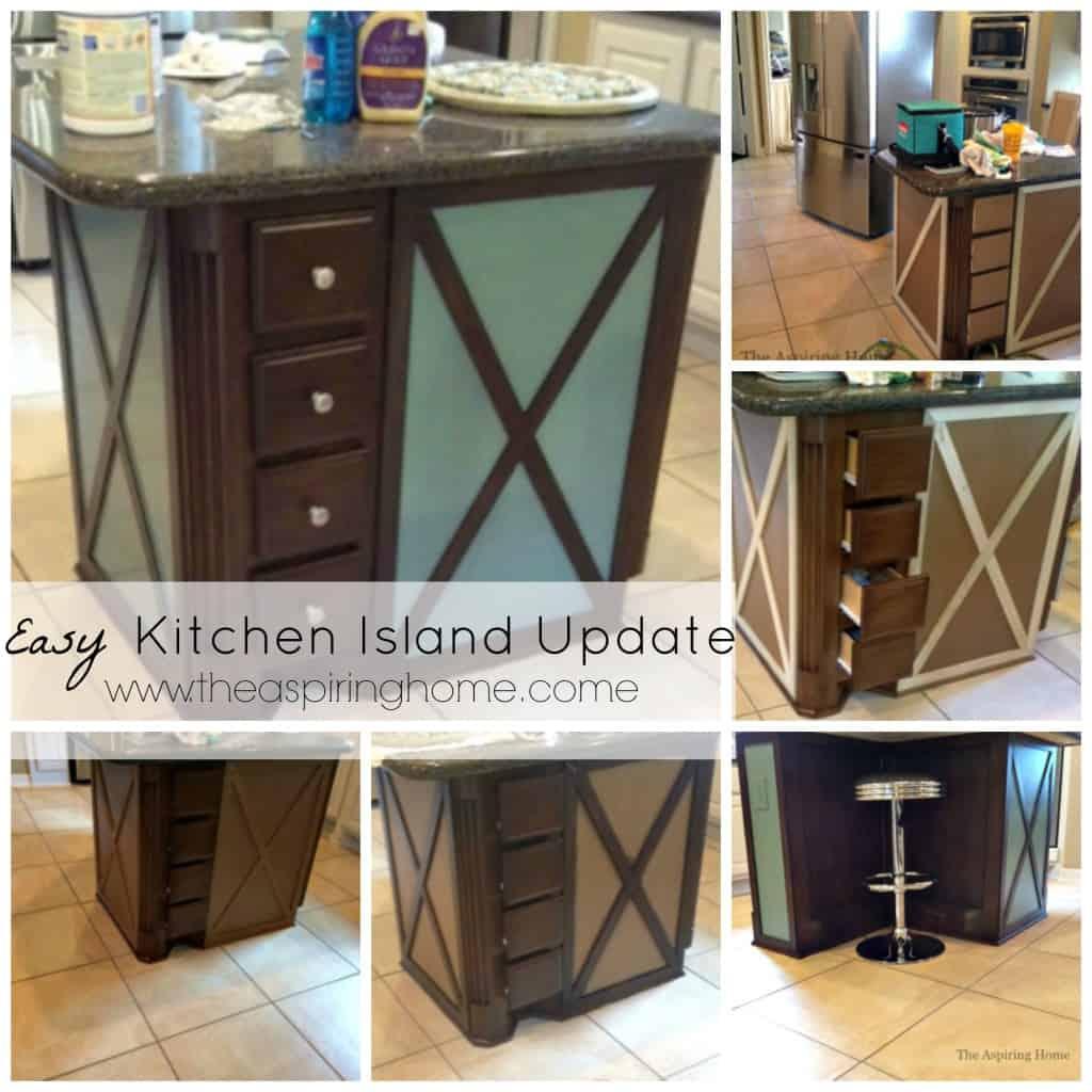 Easy Kitchen Island Update www.theaspiringhome.com