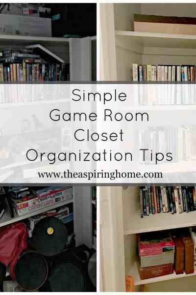 Simple Game Room Closet Organization Tips