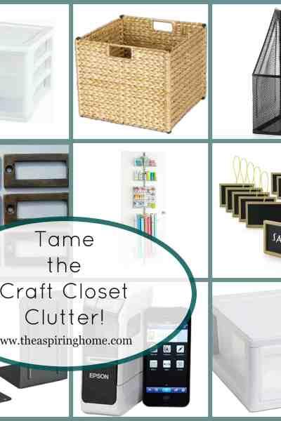 Clear the Craft Closet Clutter!