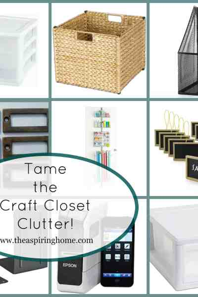 Clear the Craft Closet Clutter!