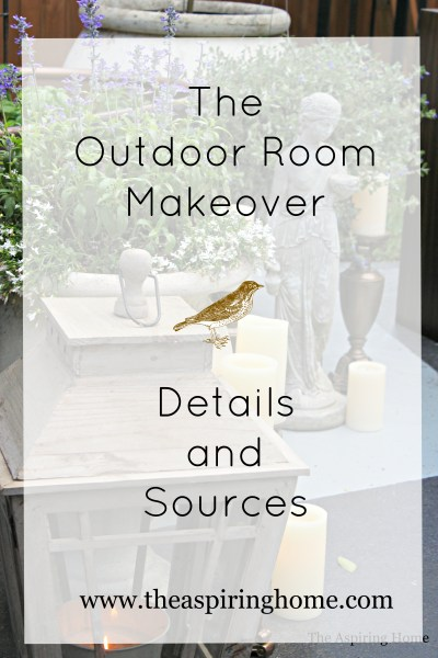 The One Room Challenge The Outdoor Room Details