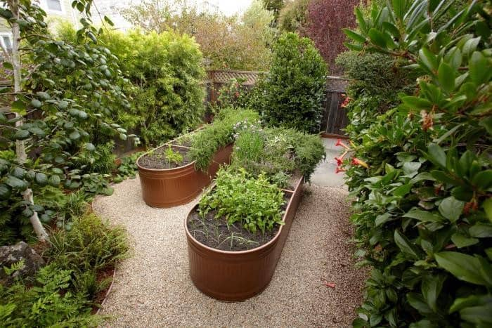 Diy Aged Copper Container Garden Using Horse Troughs