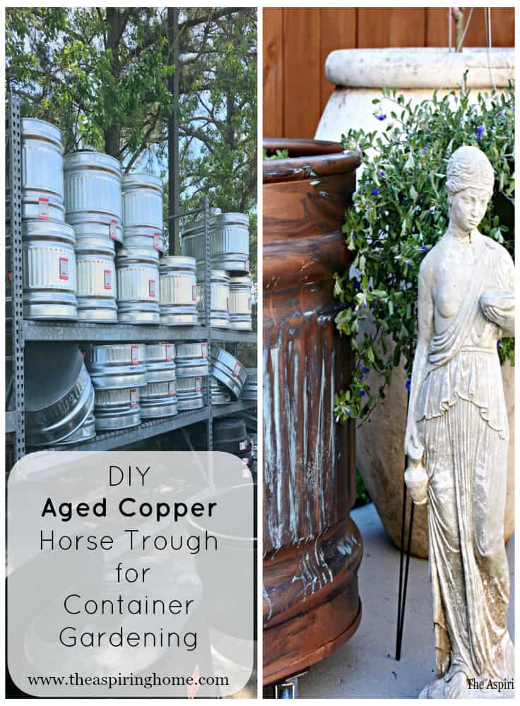Aged Copper Contaier Garden Trough Aspiring Home Collage