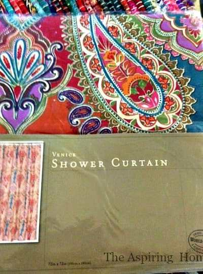1 Shower Curtain-5 Easy Projects!