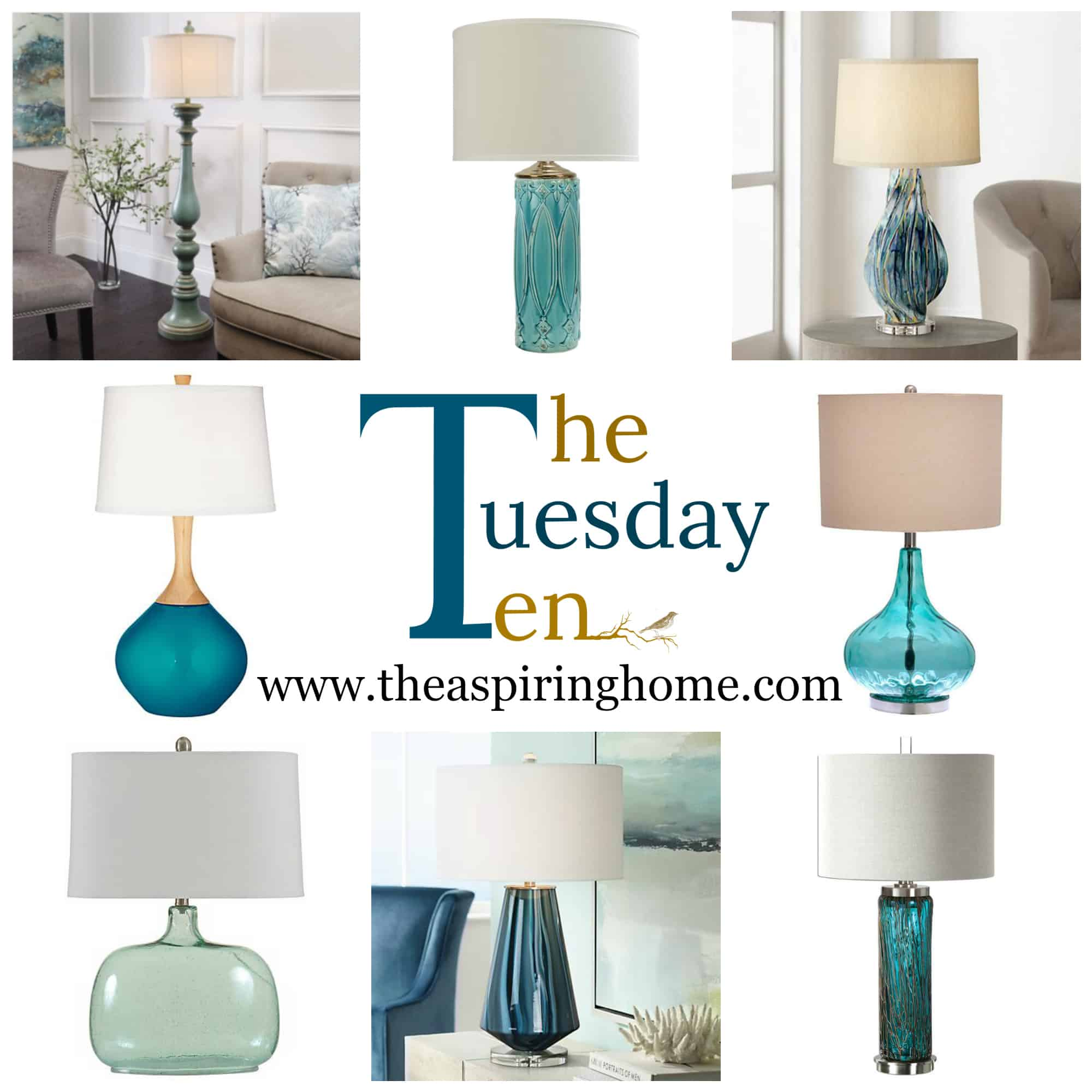 Turquoise Table Lamps The Aspiring Home