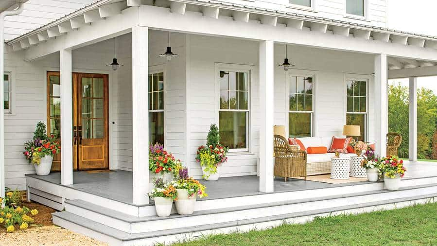 Beautiful Spring Porch In 5 Simple Steps The Aspiring Home