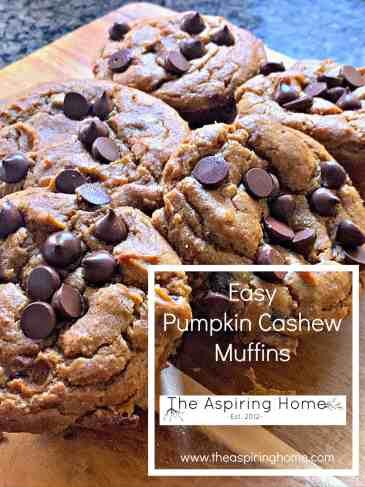 easy pumpkin cashew muffins