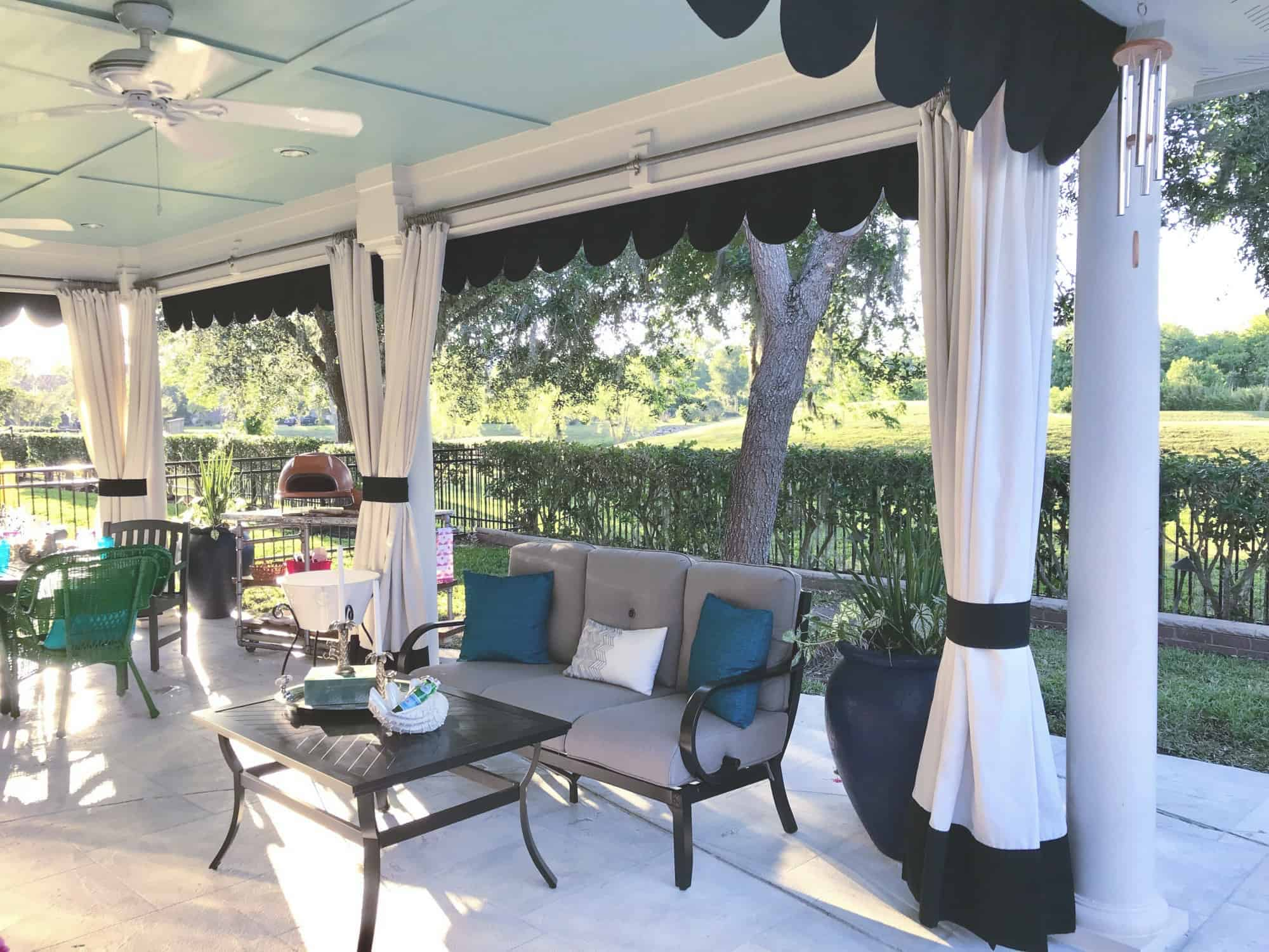 make this diy outdoor curtain rod the