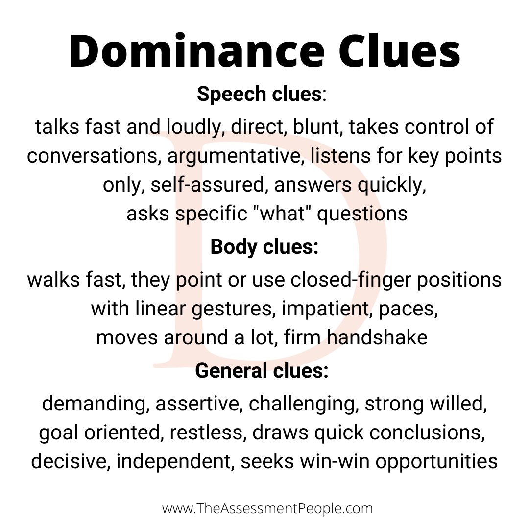 Dominance Observable Clues