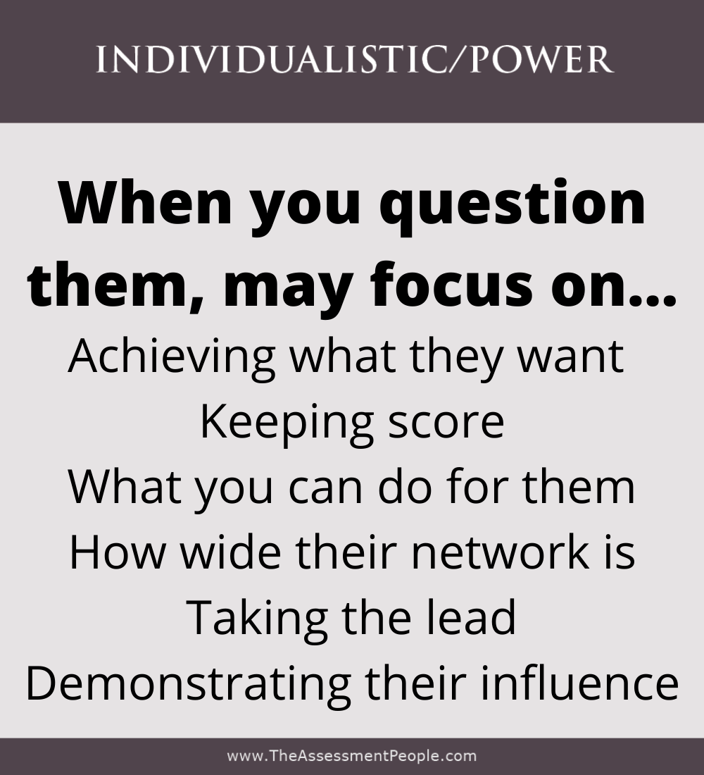 Individualistic Motivator Questioned