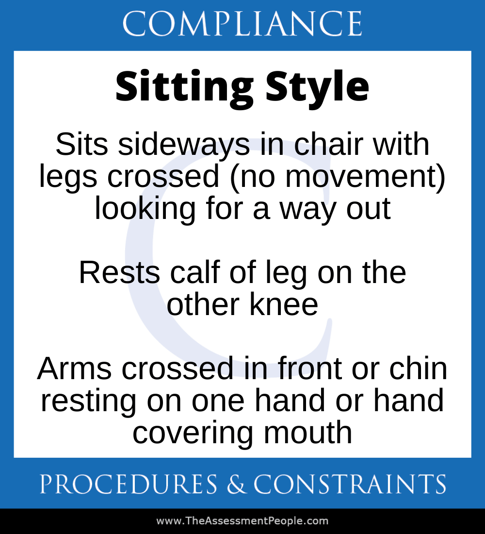 DISC Compliance Sitting Style