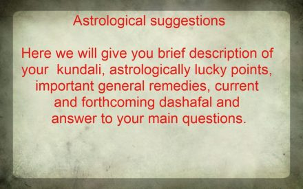 Astrological suggestions