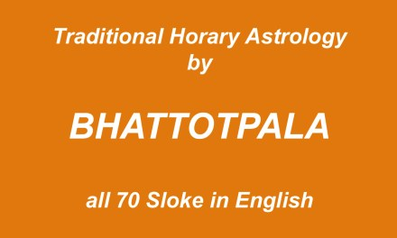 HORARY ASTROLOGY HINDU TRADITIONAL SYSTEM