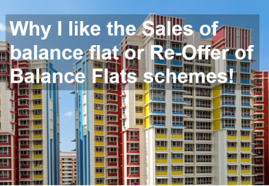 Why I like the Sales of balance flat or Re-Offer of Balance Flats schemes!