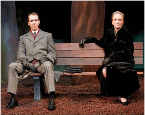 """Paul Niebanck and Kathleen Chalfant in a scene from Lee Blessing's """"A Walk in the Woods""""  (Photo credit: Carol Rosegg)"""