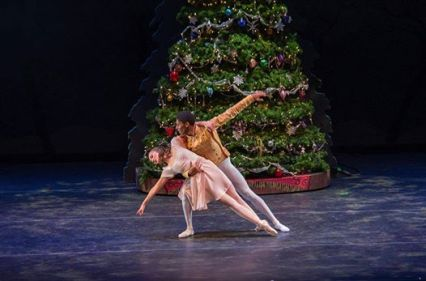 "photo of dancers Thel Moore and Almas Evertz in ""The Nutcracker."""