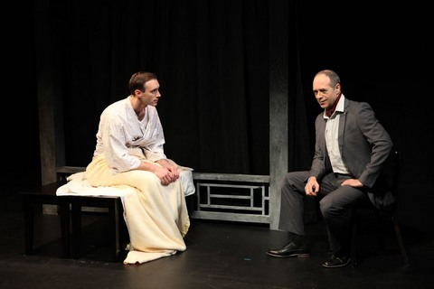 "Benjamin Jones and Jean Brassard in a scene from Damon Chua's ""Film Chinois"" (Photo credit: John Quincy Lee)"