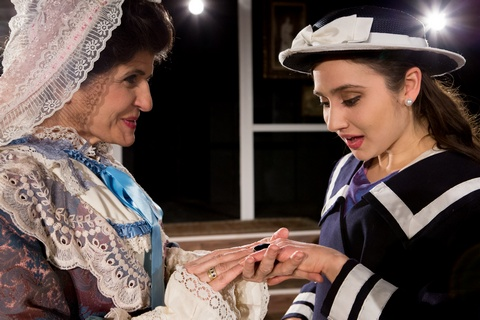 "Evangelia Kingsley and Connie Castanzo in a scene from ""Gigi"" (Photo credit: Michael Abrams)"