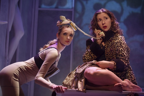 """Allegra Rose Edwards and Miriam Silverman in a scene from """"Everything You Touch"""" (Photo credit: Joan Marcus)"""