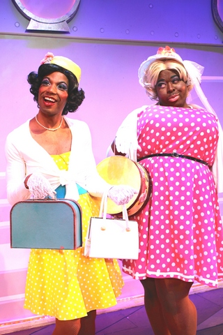 "DaWoyne A. Hill and Tobias Young in a scene from the musical ""Fabulous!""  (Photo credit: Steven Bidwell)"