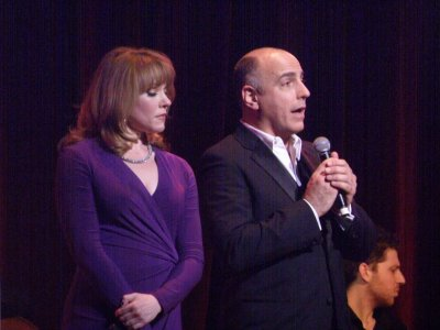 """Emily Skinner and William Michals s they sang the duet, """"One Alone,"""" from """"The Desert Song""""(Photo credit: Maryann Lopinto)"""