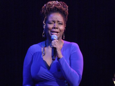 """Tonya Pinkins as she sang """"The Thrill Is Gone"""" at The Town Hall (Photo credit: Maryann Lopinto)"""