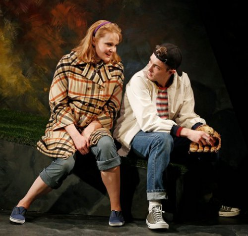 "Kate Baldwin and Conor Ryan in a scene from Keen Company's revival of Andrew Lippa and Tom Greenwald's ""John & Jen"" (Photo credit: Carol Rosegg)"