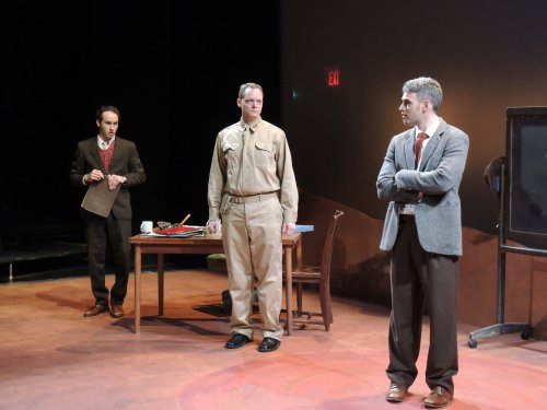 "Josh Doucette, Hugh Sinclair and Jordan Kaplan in a scene from ""Irreversible"" (Photo credit: Red Fern)"