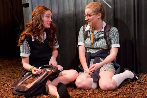 "Angeliea Stark and Kiley Lotz in a scene from ""UNDERLAND"" (Photo credit: Hunter Canning)"