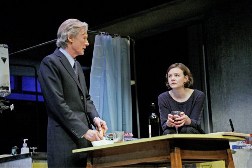 "Bill Nighy and Carey Mulligan in a scene from David Hare's ""Skylight"" (Photo credit: John Haynes)"