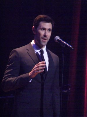 "Christopher Johnstone as he sang ""Love Can't Happen"" from ""Grand Hotel"" (Photo credit: Maryann Lopinto)"