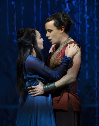 """Ashley Park and Conrad Ricamora in a scene from the Lincoln Center Theater revival of """"The King and I"""" (Photo credit: Paul Kolnik)"""