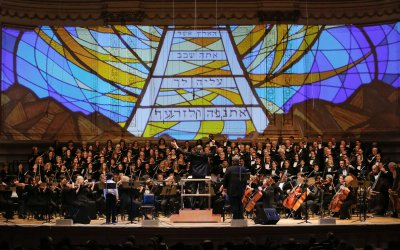 """A scene from The Collegiate Chorale's concert performance of Kurt Weill's """"The Road of Promise"""" (Photo credit: Erin Baiano)"""