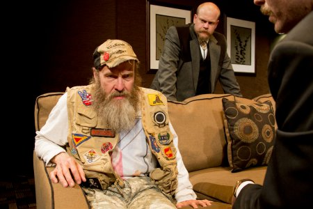 """Mark Roberts, Jared Culverhouse and Malcolm Madera in a scene from """"New County"""" (Photo credit: Clay Anderson)"""