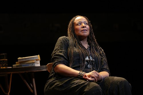 "Dael Orlandersmith in a scene from ""Forever"" (Photo credit: Joan Marcus)"