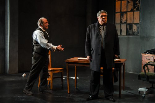 "David Proval and Vincent Pastore in a scene from ""A Queen for a Day"" (Photo credit: Russ Rowland)"