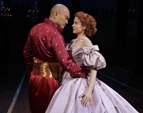 "Ken Watanabe and Kelli O'Hara as they perform ""Shall We Dance?"" in the Lincoln Center Theater revival of ""The King and I"" (Photo credit: Paul Kolnik)"