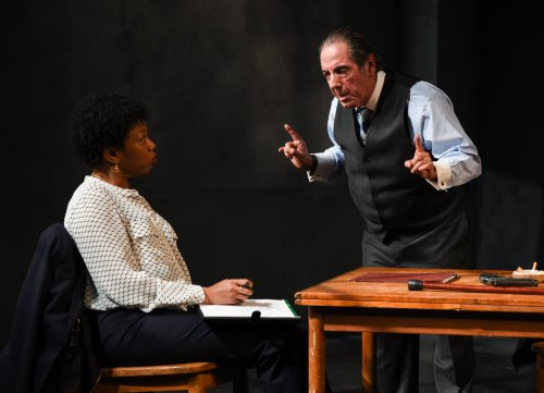 "Portia and David Proval in a scene from ""A Queen for a Day"" (Photo credit: Russ Rowland)"