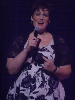 """Lisa Howard as she sang """"Jenny's Blues"""" from the current """"It Shoulda Been You"""" (Photo credit: Maryann Lopinto)"""