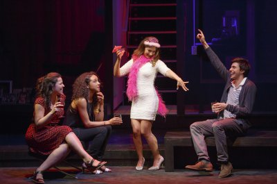 "Lindsay Mendez, Carra Patterson, Sas Goldberg and Gideon Glick in a scene from ""Significant Other"" (Photo credit: Joan Marcus)"