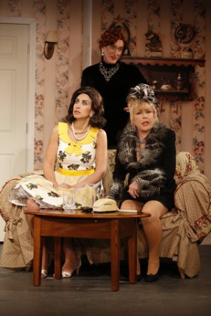 "Kim Maresca, Peter Land and Rita McKenzie in a scene from the new revival of ""Ruthless!"" (Photo credit: Carol  Rosegg)"