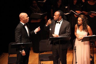 """Barry L. Robinison, Steve Wallace and JoAnna Marie Ford in a scene from """"Voodoo, a Harlem Renaissance Opera"""" (Photo credit: Regina Fleming)"""