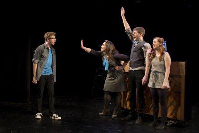 "Ethan Andersen, Nicole Dalto, Matthew Summers and Katie Emerson in a scene from ""HeadVoice"" (Photo credit: Morgan Mayer)"