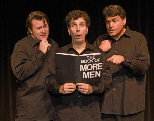 "Stephen G. Anthony, Paul Louis and Nick Santa Maria in a scene from ""Real Men"""