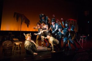 "Max Wilcox as Thorn with Cast of ""The Calico Buffalo"" (Photo credit: Shira Friedman)"