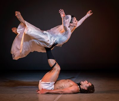 """Natalia Osipova and Ivan Vasiliev in a scene from Arthur Pita's """"Facada"""" (Photo credit: Michael Koury)"""
