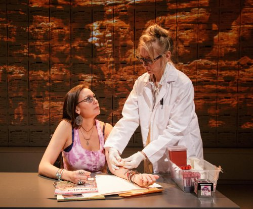 "DeLanna Studi and Tina Benko in a scene from ""Informed Consent"" (Photo credit: James Leynse)"