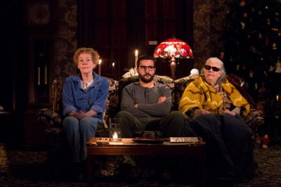 """Georgia Engel, Christopher Abbott and Lois Smith in a scene from Annie Baker's """"John"""" (Photo credit: Matthew Murphy)"""
