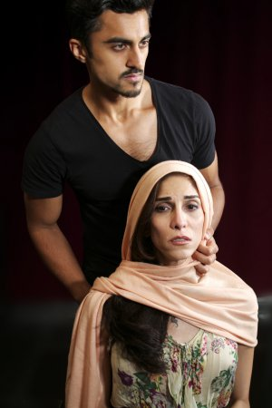 """Gopal Divan and Pooya Mohseni in a scene from """"Death of the Persian Prince"""" (Photo credit: John Capo Public Relations)"""