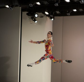 "Gonzalo Garcia in a scene from Balanchine's ""Harlequinade"" (Photo credit: Works & Process at the Guggenheim/Jacklyn Meduga)"